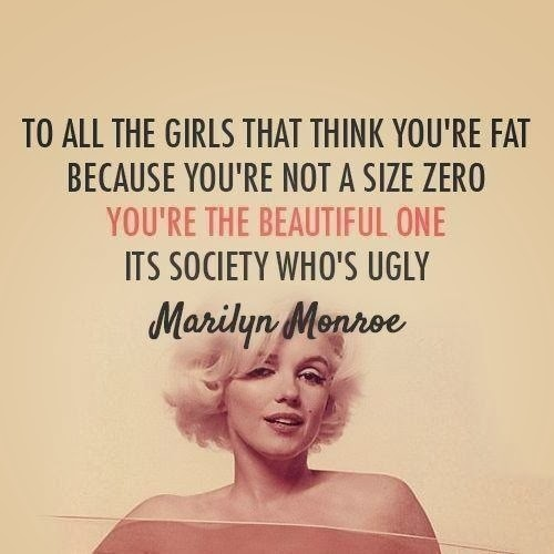 marilyn monroe body positivity