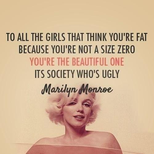 marilyn monroe body positivity